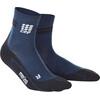 cep Merino Short - Chaussettes course à pied Homme - bleu/noir